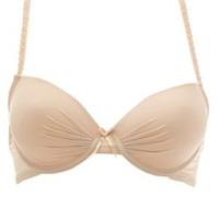 Ruched Racerback T-Shirt Bra by Charlotte Russe