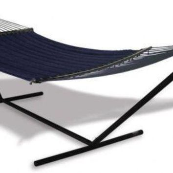 LMFMS9 Hammaka Universal Hammock Stand with Quilted Olefin Hammock