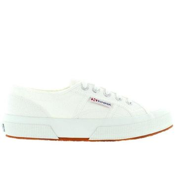 ONETOW Superga 2750 COTU Classic - White Canvas Lace-Up Sneaker