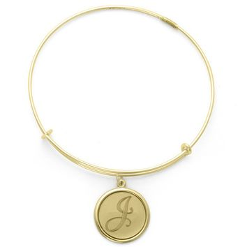 Alex and Ani Precious Initial J Charm Bangle - 14kt Gold Filled