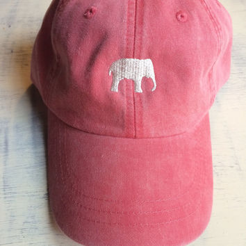 Monogrammed elephant baseball hat, comfort colors hat