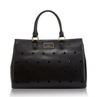 Black Spot Leather Large Amelia | Handbags - Lulu Guinness