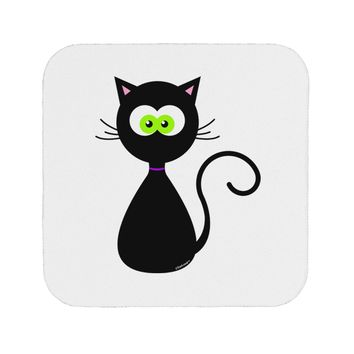 Black Cat Halloween Coaster