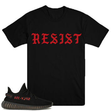 RESIST- YEEZY BOOST v2 blk/red