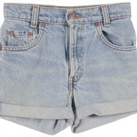 Kids Levi's Stonewash Blue Denim Shorts - Vintage clothing from Rokit -
