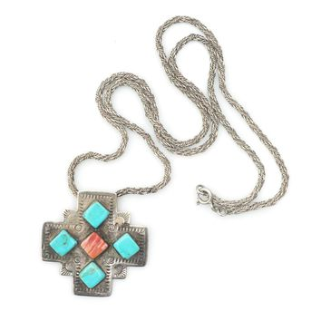 Turquoise & Spiny Oyster Cross