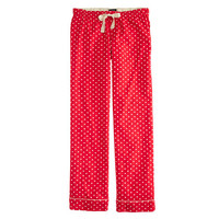 J.Crew Womens Pajama Pant In Polka-Dot Flannel