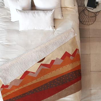 Viviana Gonzalez Geometric Landscape II Fleece Throw Blanket