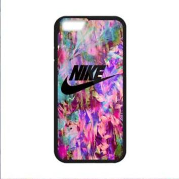 Best Abstract Tropical Floral Nike For iPhone 8 and 8 Plus Hard Plastic Case