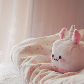 Kawaii Unicorn Plush Soft toy cute ribbons cube