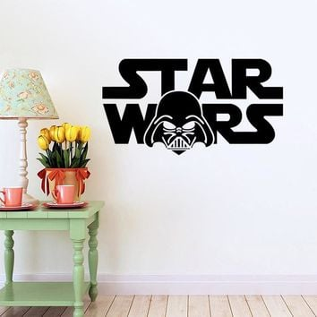 Star War character words removable kids room wall sticker creative boys love gifts toys home declas wall art