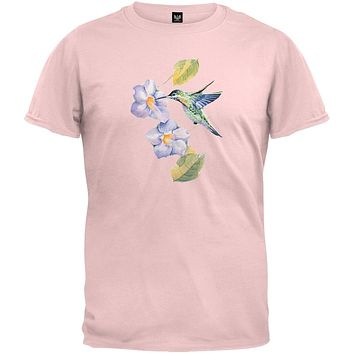 Hummingbird Garden Light Pink T-Shirt