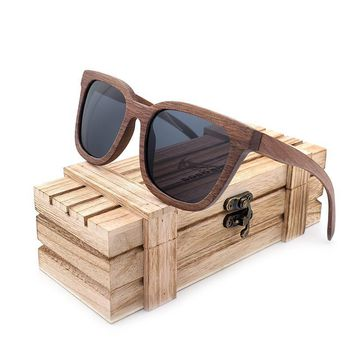 Wooden Polarized Sunglasses Mens Vintage