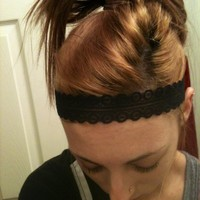 Black Lovely Lace Headband from Diamond Life Boutique