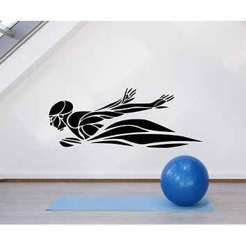 Vinyl Wall Decal Swimmer Swimming Pool Water Sports Stickers (2701ig)