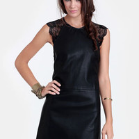 Keep on Dancin' Faux Leather Dress
