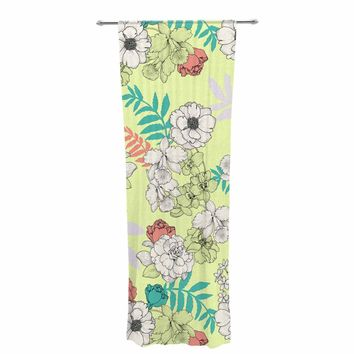 "Victoria Krupp ""Sweet Floral"" Multicolor Pastel Floral Pattern Illustration Digital Decorative Sheer Curtain"
