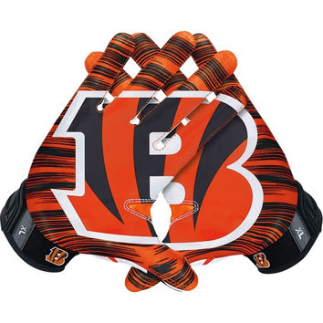 Cincinnati Bengals Nike NFL Vapor Jet 3.0 Authentic Gloves - http://www.shareasale.com/m-pr.cfm?merchantID=7124&userID=1042934&productID=546239884 / Cincinnati Bengals