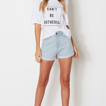 Can't Be Bothered Tee White