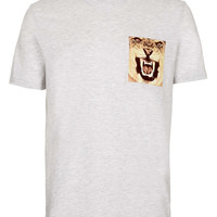 Grey Leopard Pocket T-Shirt - Men's T-shirts & Tanks - Clothing - TOPMAN USA