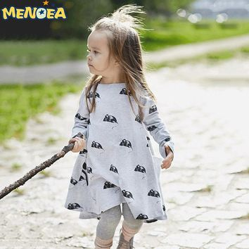 New design baby girl dress cartoon mouse Spring winter spring style children princess dresses kids clothes party dress party