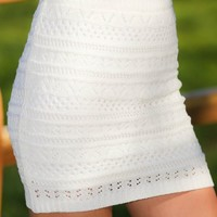 She's From Above Skirt-Ivory