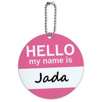 Jada Hello My Name Is Round ID Card Luggage Tag