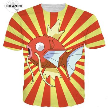 Magikarp T Shirt Men Women 360 Printed 3D T-shirts Tshirt 2018 Short Sleeve O Neck Funny Tops Casual Summer Graphic TeesKawaii Pokemon go  AT_89_9