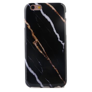Striped Black Marble iPhone Case