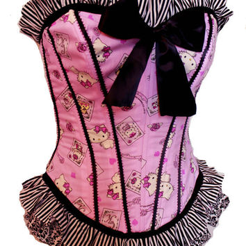 Charmmy Kitty Playing Card Corset