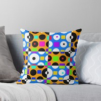 '1968 POP DOTS 4' Throw Pillow by IMPACTEES