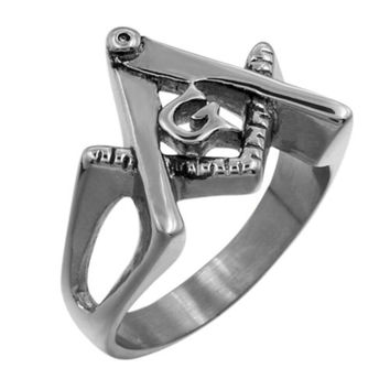 Men's Stainless Steel Silver Cool Gothic Punk Biker Finger Rings Jewelry New