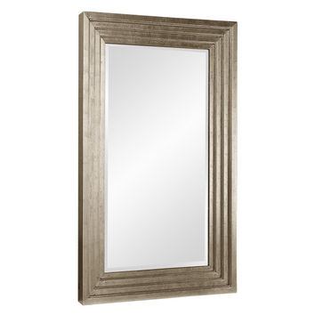"Howard Elliott Delano Small Silver Mirror 34"" x 46"" x 2"""