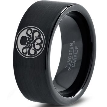 Hydra Inspired Black Tungsten Ring