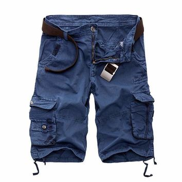 Mens Cargo Shorts Loose Short Pants CamoKnee Length Plus Size 10 Colors Shorts Mens