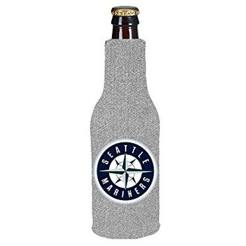 MLB 2013 Baseball Team Logo Womens Ladies Glitter Beer Bottle or Can Holder Koozie Cooler - All 30 Teams Avaialble! (Bottle, Seattle Mariners)