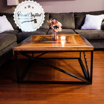 Rustic Coffee Table - Wood coffee table - Reclaimed coffee table - Custom coffee table - Hand Crafted - Rustic Furniture - Reclaimed