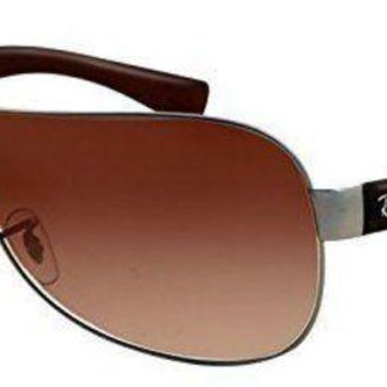 Kalete Ray Ban RB3471 029 13 Gunmetal Brown Frame Brown Gradient Lenses 32mm Sunglasses