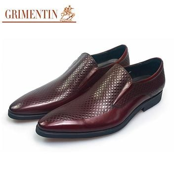 Genuine Leather Men Dress Shoes Casual Black Wedding Business Office Designer Male Shoes Men Foot Wear