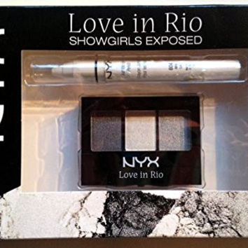 Limited Edition NYX Love in Rio Set: Showgirls Exposed Eyeshadow Trio & Jumbo Eye Pencil in Milk