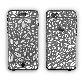 The Gray & White Floral Sprout Apple iPhone 6 Plus LifeProof Nuud Case Skin Set