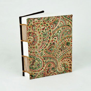 Travel Journal, Fabric Journal, Travel Notebook, Mother's Day gift, Paisley Pattern Notebook, Sketchbook