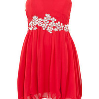 Ax Paris Red Embellished Bandeau Dress