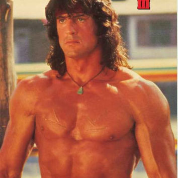 Rambo III Sylvester Stallone 1988 Movie Poster 21x28