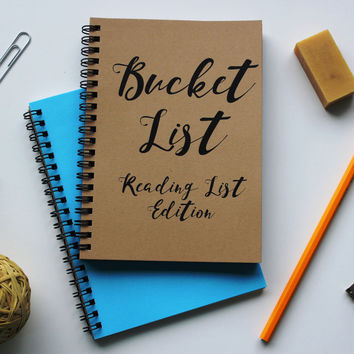READING LIST EDITION - Bucket List -   5 x 7 journal