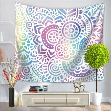 Home Decor Wall Hanging Mandala Tapestry Colorful Fabric Throw Bohemian Door Curtain Bedspread home decoration accessories