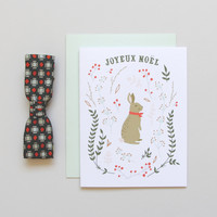 Winter Hare Holiday Card