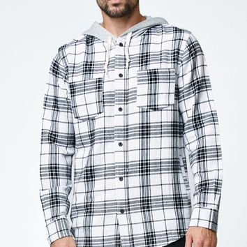 Modern Amusement Plaid Hooded Flannel Shirt - Mens Shirt