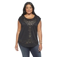 Women's Plus Size Knit Top-Pure Energy
