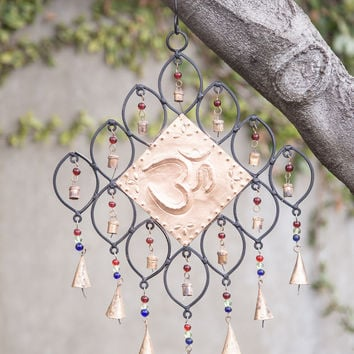 Beaded Om Wind Chime